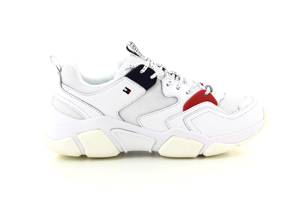 TH WMN CHUNKY MIXED TEXTILE TRAINER